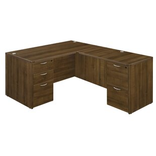 Fairplex Grommet Holes L-Shape Executive Desk
