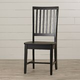 Biermann Solid Wood Slat Back Side Chair by Andover Mills™
