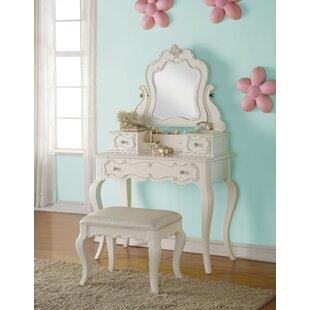 Eddins Vanity Set with Mirror by Harriet Bee