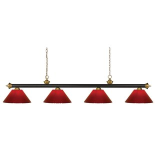 Red Barrel Studio Zephyr 4-Light Cone Shade Pool Table Light
