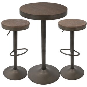 Baer 3 Piece Adjule Pub Table Set