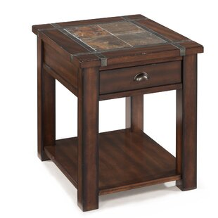 Compare prices Celsus End Table With Storage By Loon Peak