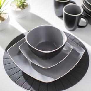 Kendell 16 Piece Dinnerware Set Service for 4 & Grey Dinnerware Sets Youu0027ll Love | Wayfair