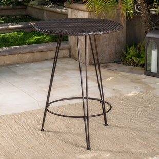 Preslar Outdoor Wicker Pub Table Wrought Studio