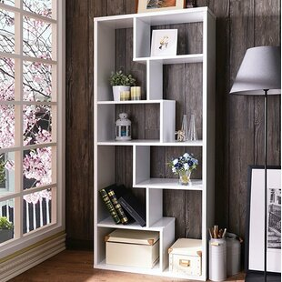 Utterback Geometric Bookcase by Brayden Studio