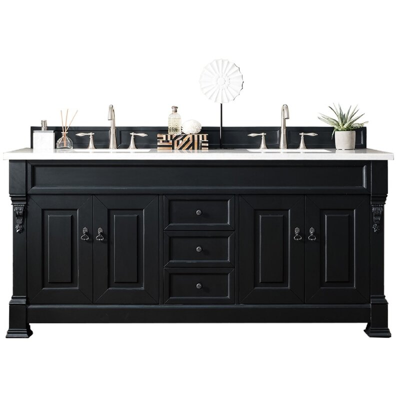 James Martin Furniture Brookfield 72 Double Bathroom Vanity Set