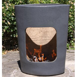 Clay Charcoal/Wood Burning Fire Pit By Gardeco