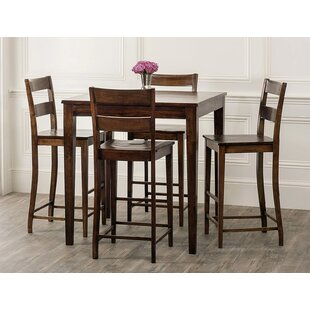 Gambino Rustic 5 Piece Pub Table Set Bloomsbury Market