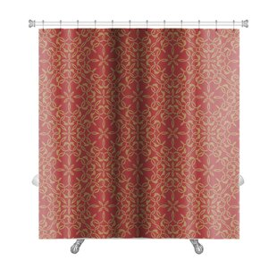 Creek Abstract Islamic Tiles Intersecting Curving Lines Premium Single Shower Curtain