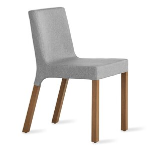 Knicker Genuine Leather Upholstered Dining Chair by Blu Dot