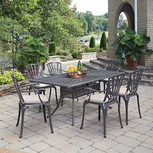 Astoria Grand Frontenac 7 Piece Dining Set with Cushions