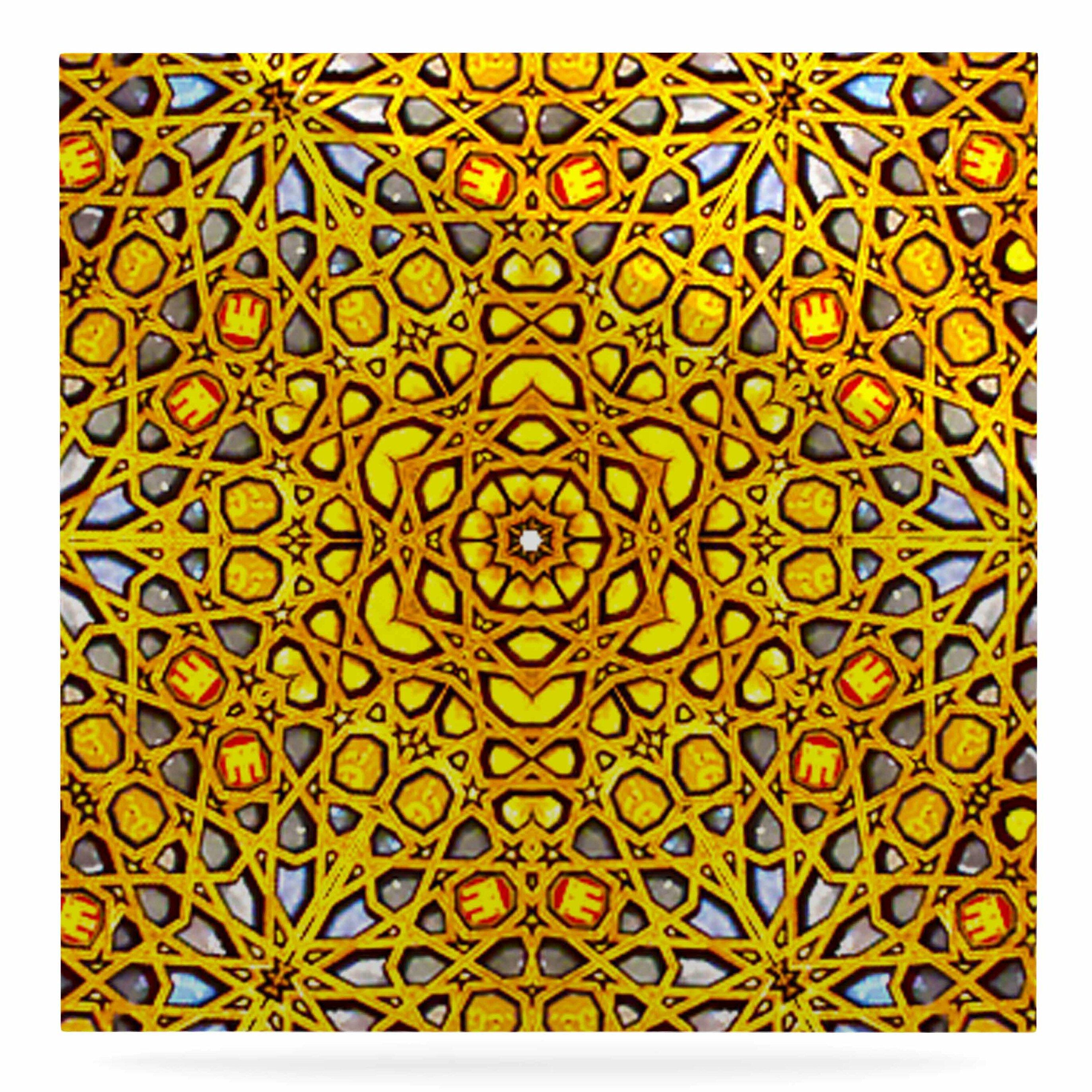 East Urban Home \'Golden Kaleidoscope\' Graphic Art Print on Metal ...