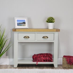 Longcroft Painted Oak Console Table By August Grove