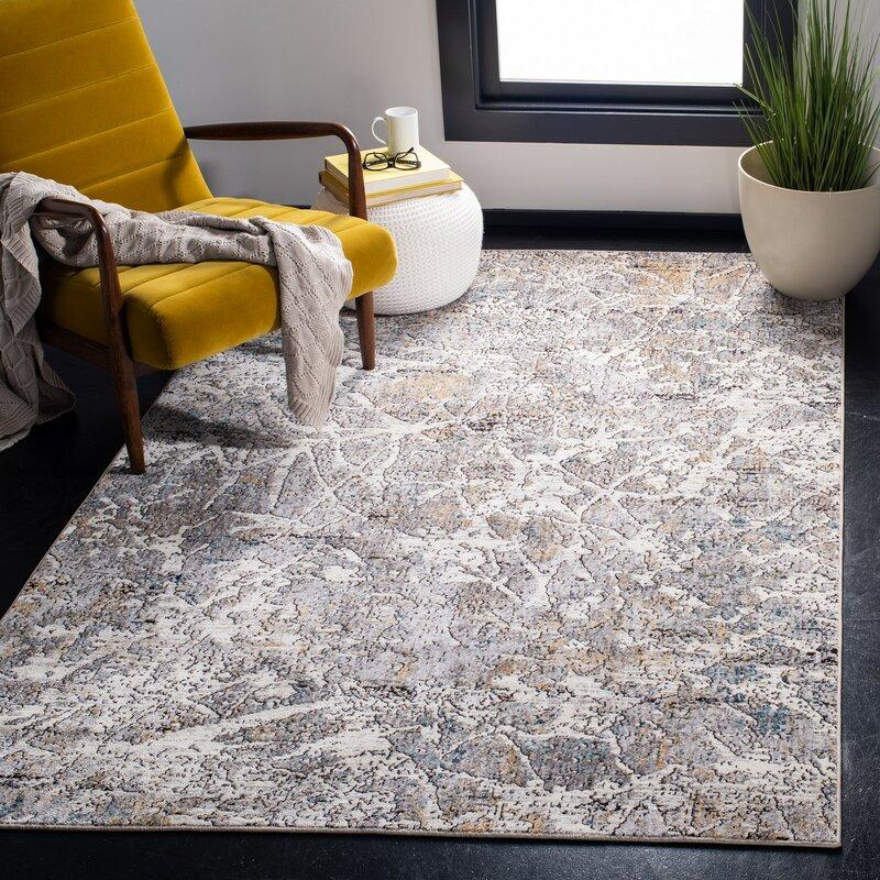 Safavieh Carrara Abstract Light Gray Beige Area Rug Wayfair
