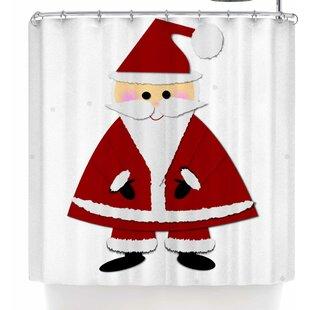 Affordable Bruxamagica Santa Claus Shower Curtain ByEast Urban Home