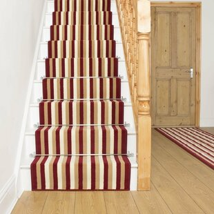 Allan Tufted Red Stair Runner Image