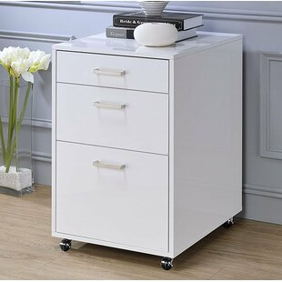 Eichhorn 3-Drawer Mobile Vertical Filing Cabinet