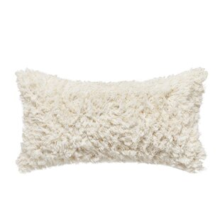 Crosshatch Jacquard Shag Throw Pillow