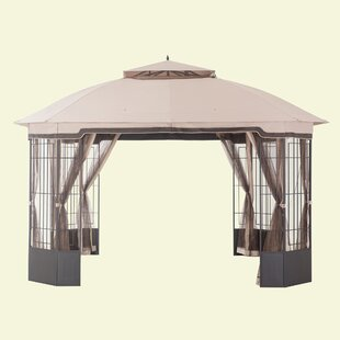 Alcott Hill Prattsburgh 12 Ft. W x 10 Ft. D Steel Patio Gazebo