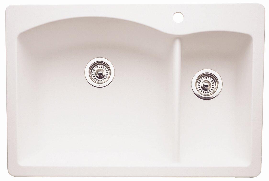 diamond 33   x 22   2 basin drop in kitchen sink blanco diamond 33   x 22   2 basin drop in kitchen sink  u0026 reviews      rh   wayfair com