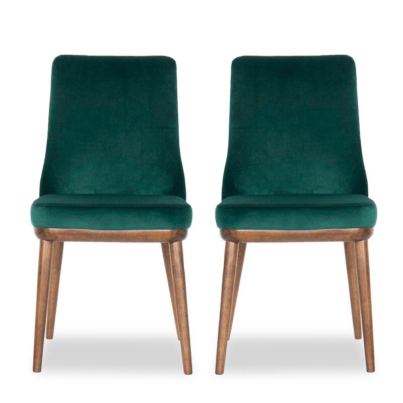 George Oliver Herschel Upholstered Parsons Chair (Set of 2)