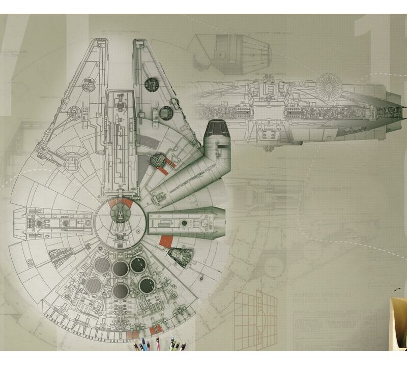 Star Wars Millennium Falcon 90 X 72 Wall Mural