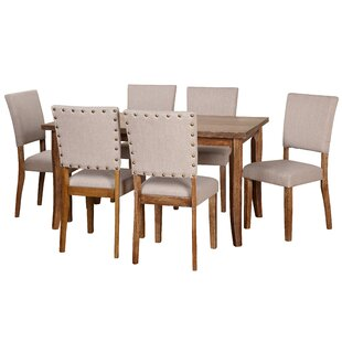 Lassiter 7 Piece Solid Wood Dining Set by..