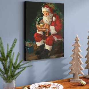 santa believes painting print on wrapped canvas