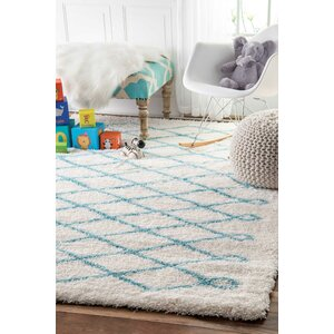 Kingsley Baby Blue Area Rug
