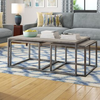 Antonio 3 Piece Nested Coffee Table Set by Modern Rustic Interiors SKU:BA368349 Shop