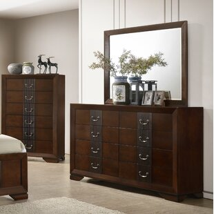 Foote 8 Drawer Double Dresser with Mirror