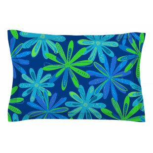 Cristina Bianco Design 'Floral - Blue & Green' Illustration Sham
