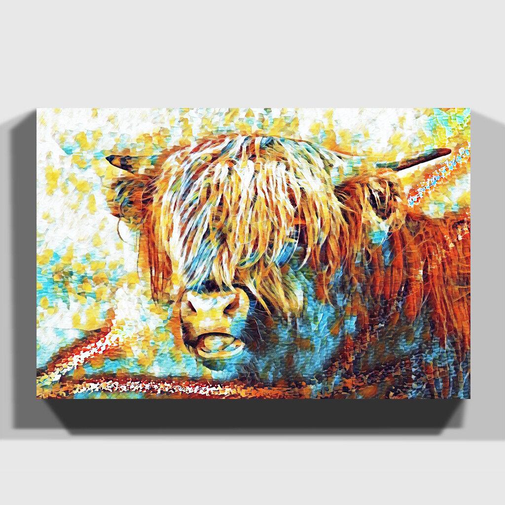 c7bcfd94b4f East Urban Home  Highland Cow  Art Print on Canvas