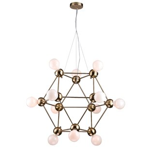 Eastlake 12-Light Geometric Chandelier by Ivy Bronx