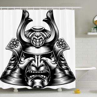 Rick Decor Samurai Mask Shower Curtain Set