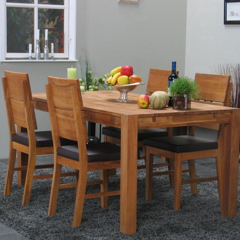 natur pur essgruppe dana mit ausziehbarem tisch und 4 st hlen. Black Bedroom Furniture Sets. Home Design Ideas