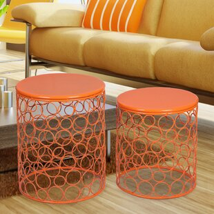 Cuadra 2 Piece Outdoor Metal Side Table Set