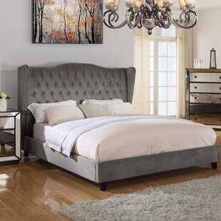 Everly Quinn Prince Upholstered Panel Bed