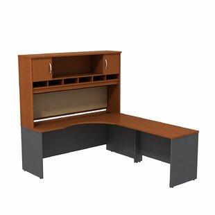 Affordable Series C 2 Piece L-Shape Corner Desk with Hutch ByBush Business Furniture