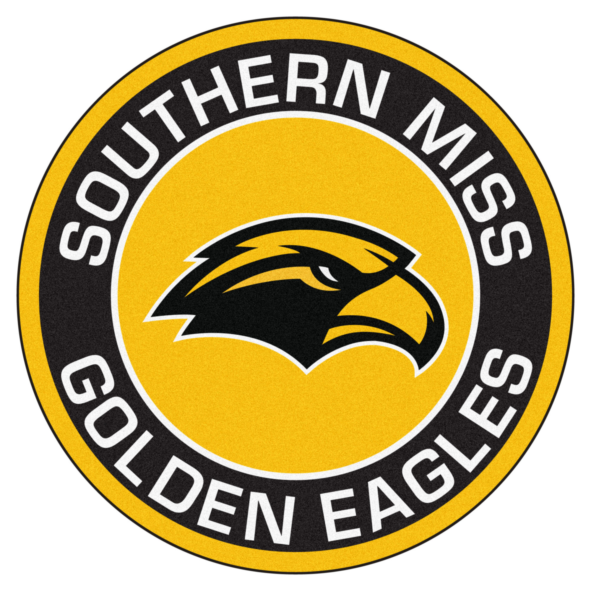 Fanmats Ncaa University Of Southern Mississippi Roundel 27 In X 27 In Non Slip Indoor Only Mat Wayfair