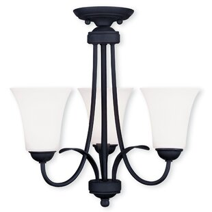 Hendrix 3-Light Shaded Chandelier by Andover Mills