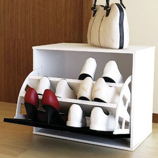 Price comparison Shoe Storage Cabinet with Door By Rebrilliant