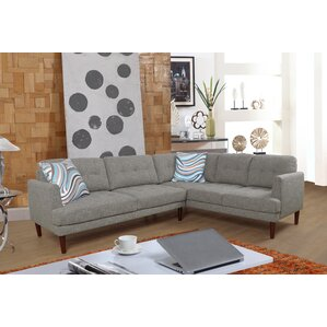 Qui Modern Sectional  sc 1 st  Wayfair : modern microfiber sectional - Sectionals, Sofas & Couches