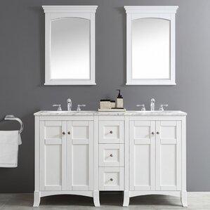bathroom double sink cabinets. Arezzo 60  Double Vanity Set with Mirrors Vanities You ll Love Wayfair