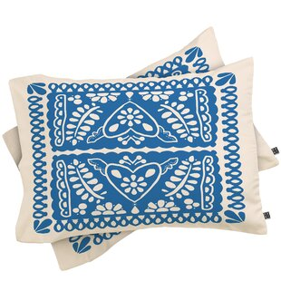 Natalie Baca Fiesta De Corazon Pillowcase (Set of 2)