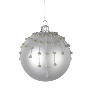 Glass ball chandelier wayfair christmas glass ball bauble set of 6 mozeypictures Image collections