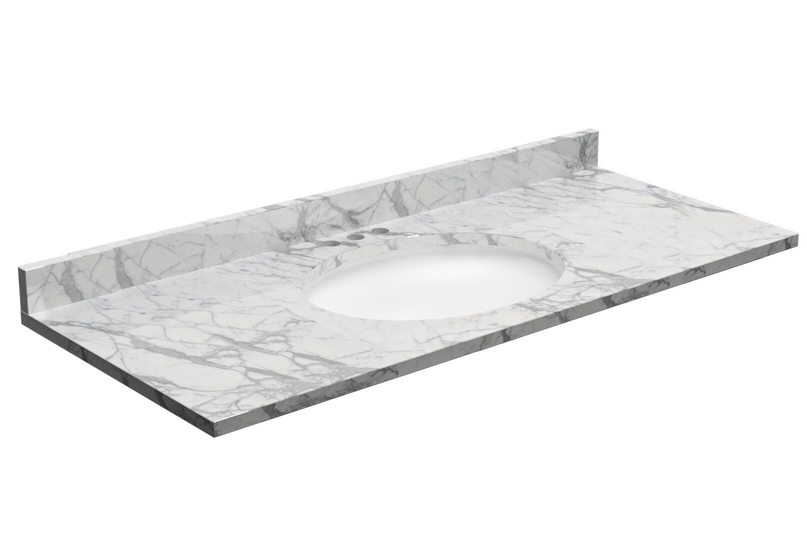 Cnc Cabinetry 61 Granite Single Bathroom Vanity Top Reviews Wayfair