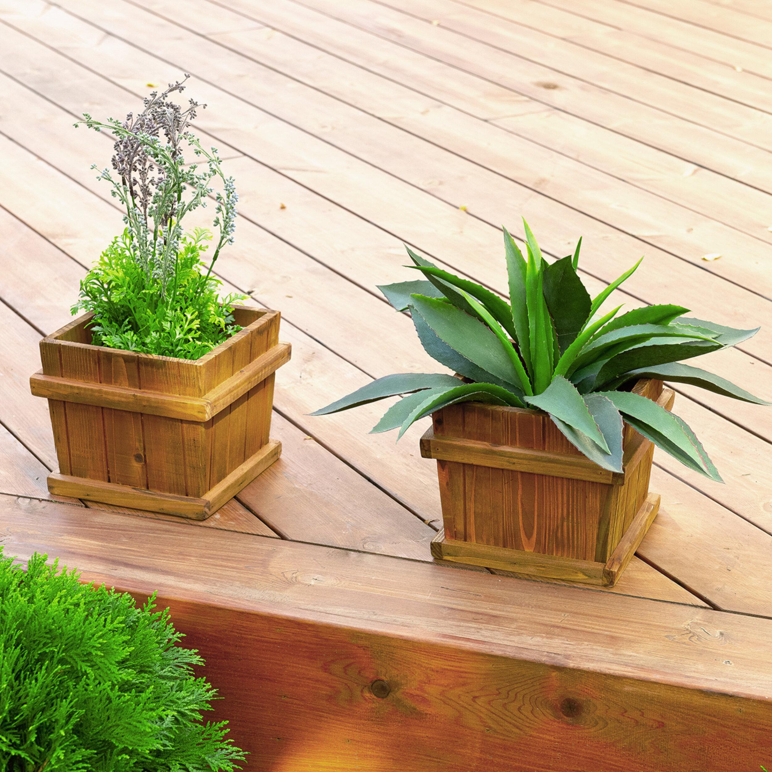 Leisure Season Chatham 2 Piece Cypress Planter Box Set Wayfair