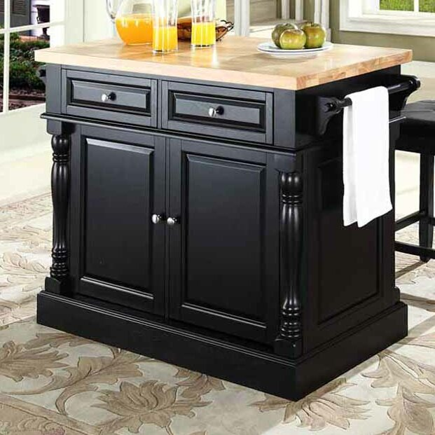 Darby Home Co Lewistown 3 Piece Kitchen Island Set With Butcher