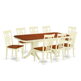 Beesley 9 Piece Buttermilk/Cherry Dining Set DarHome Co
